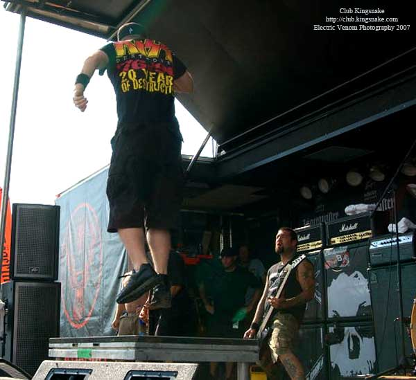 Hatebreed; Ozzfest 2007;August 12, 2007; Alpine Valley, East Troy, WI;