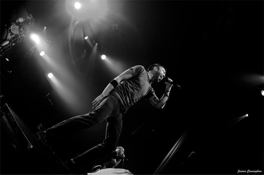 Tim McCrath of Rise Against performing October 3rd in Toronto