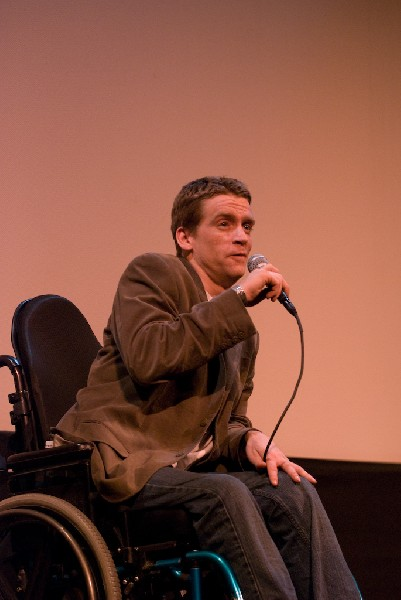 Q and A after the screening of Body of War