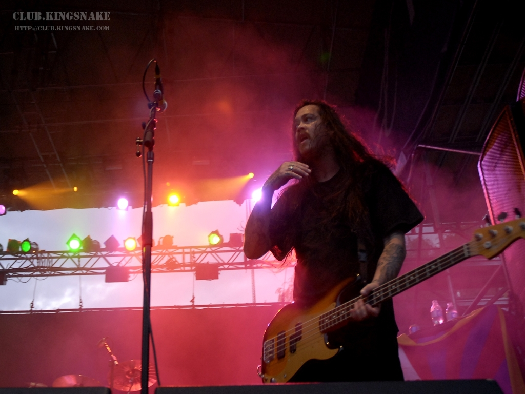 Chi Cheng of The Deftones at Wakestock 2007