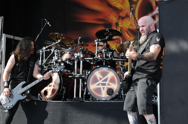 Anthrax at Mayhem Festival 2012 Gexa Energy Pavilion Dallas Texas 07/10/201