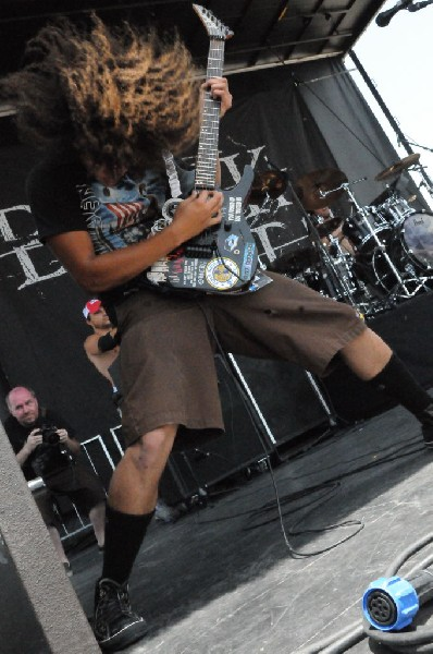 Black Tide at the Mayhem Festival Verizon Wireless Amphitheater