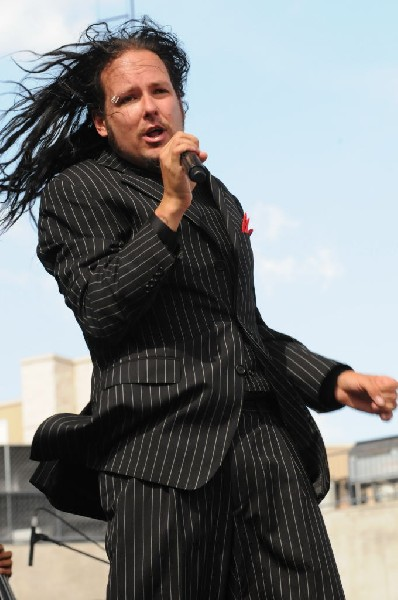 Jonathan Davis at Ozzfest 2008, Pizza Hut Park, Frisco, Texas