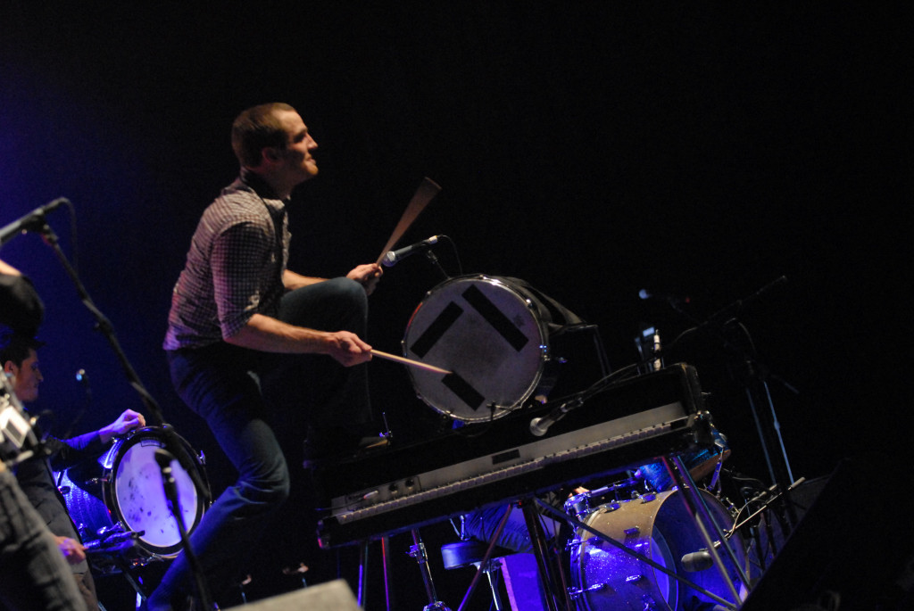 Darren King  of MuteMath at the Frank Erwin Center