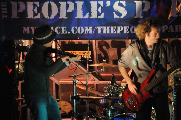 The Peoples Party perform in the street, Austin, Texas, SXSW 2008