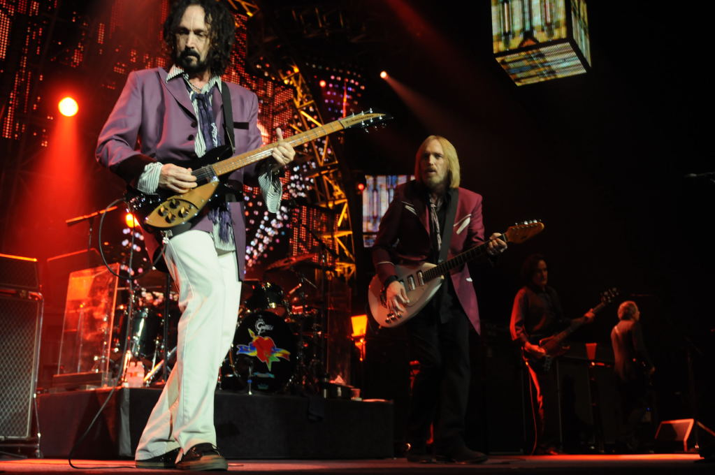 tom petty. Mike Campbell and Tom Petty at