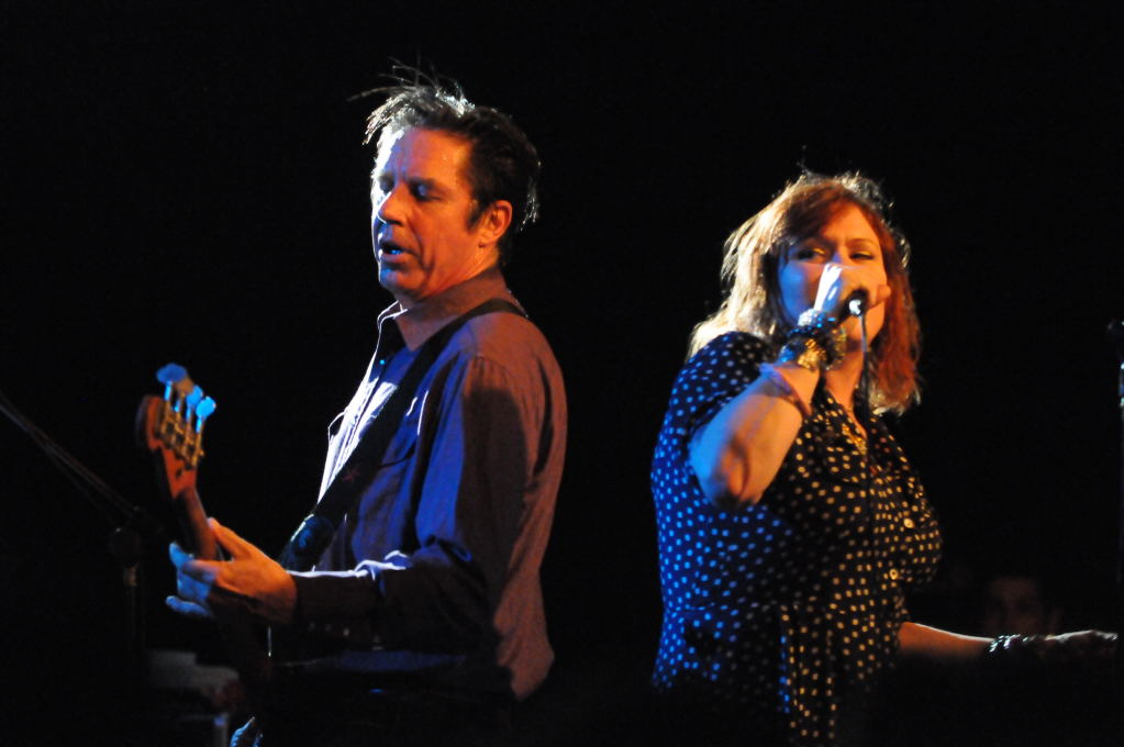 John Doe and Exene Cervenka of X at La Zona Rosa