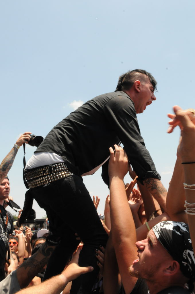 Chris Barker of Anti-Flag at Warped Festival