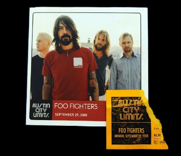 Foo Fighters Austin City Limits Taping Ticket Stub