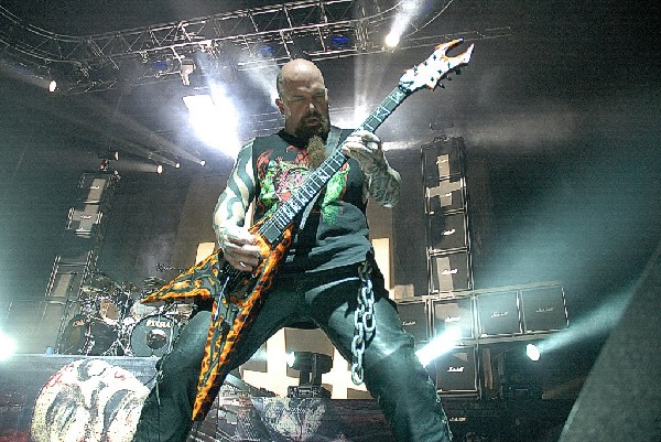 Kerry King and Slayer will play the<br>Verizon Wireless Amphitheater in San Antonio, Sept. 1